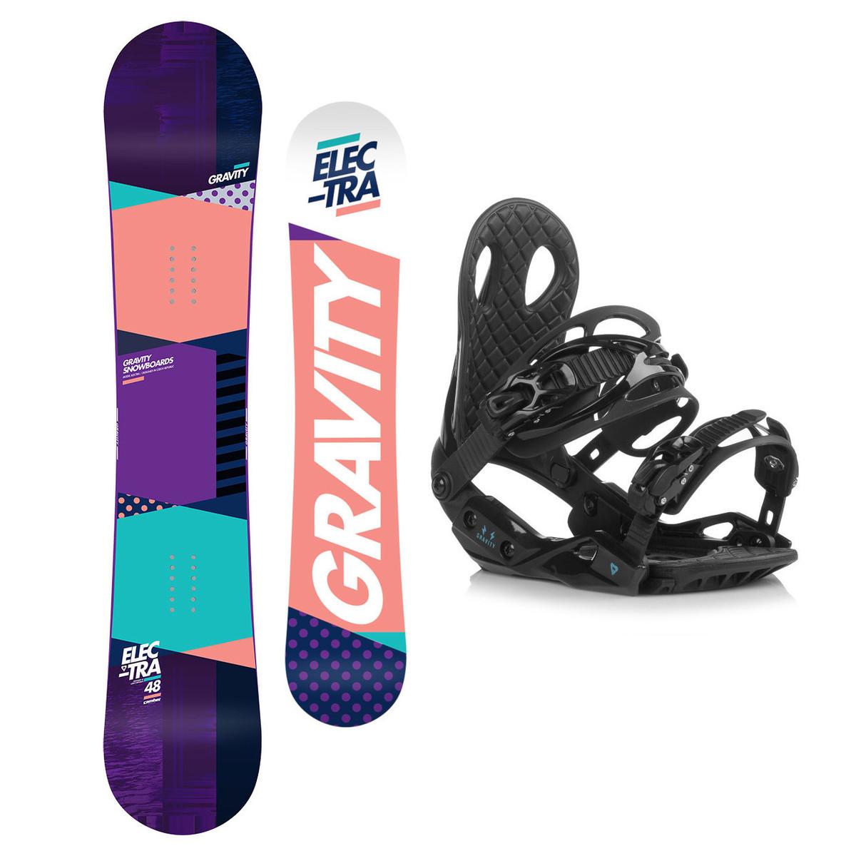Snowboardový set Gravity Electra 18/19 M (EU 37-42) 151 Černá