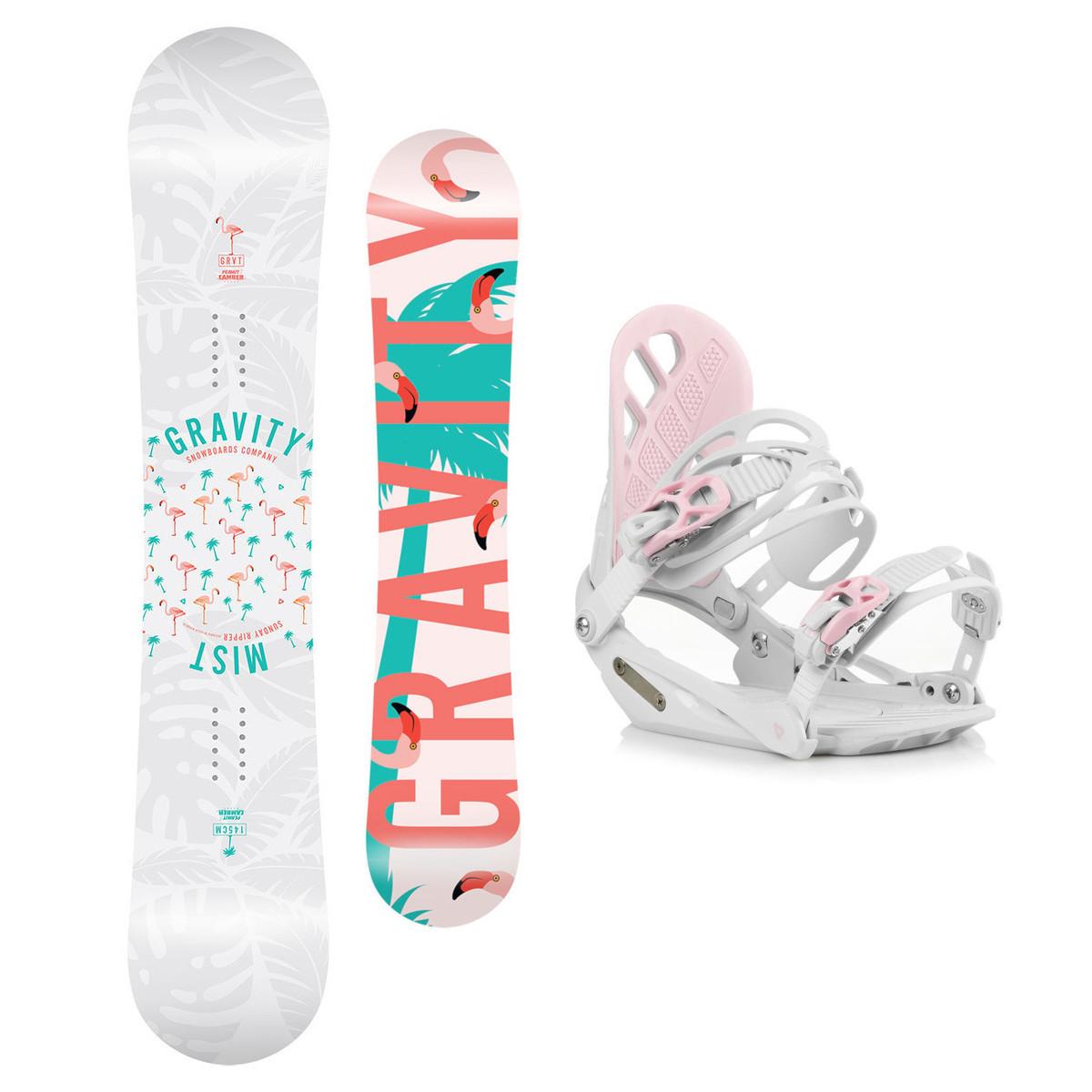 Snowboardový set Gravity Mist 18/19 M (EU 37-42) 150 Bílá