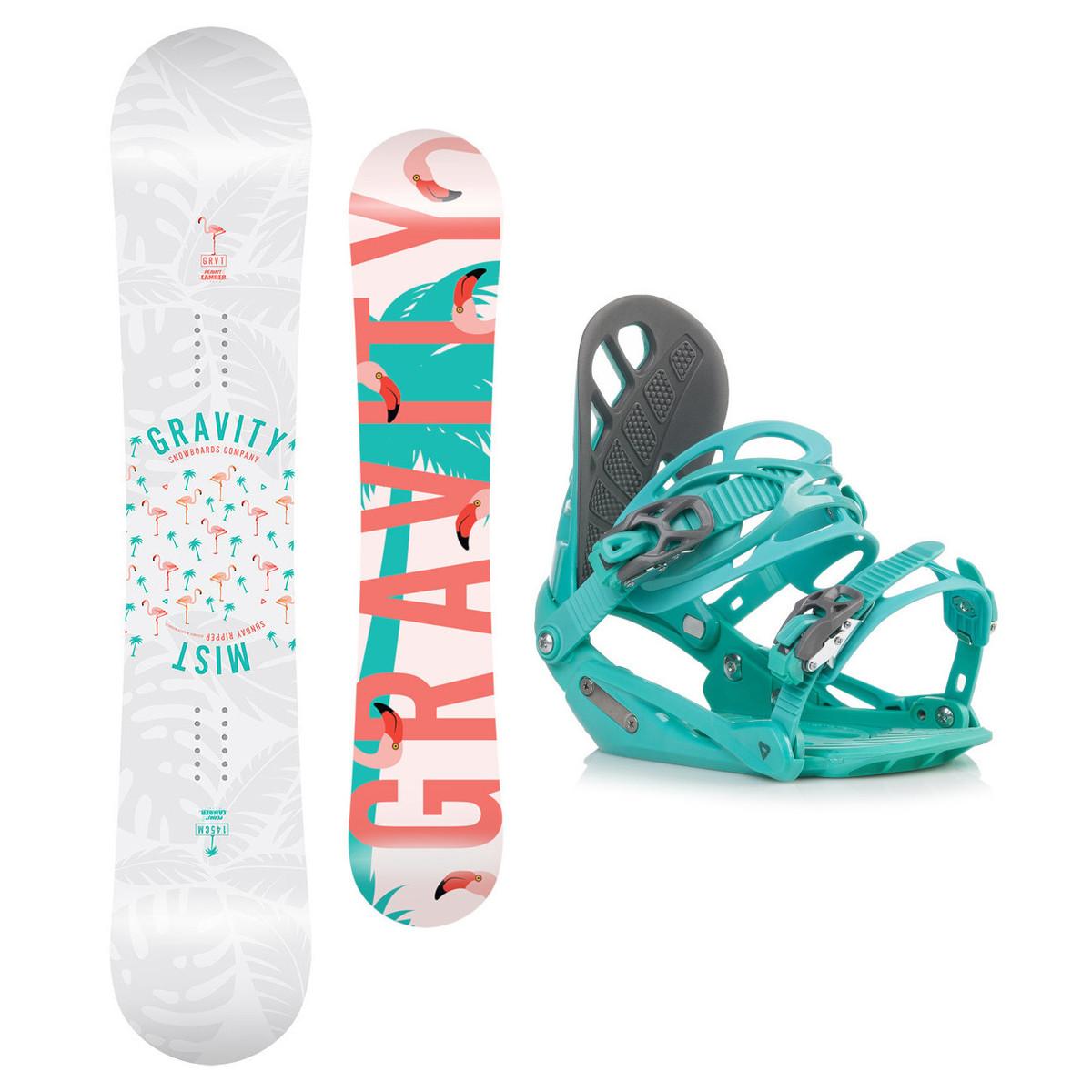 Snowboardový set Gravity Mist 18/19 M (EU 37-42) 150 Zelená