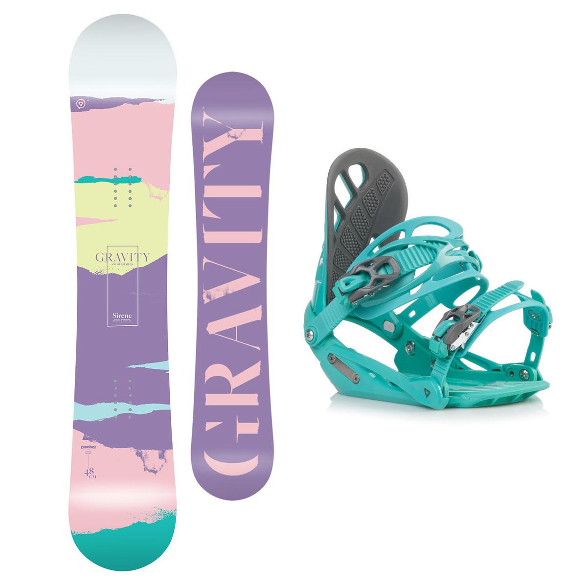 Snowboardový set Gravity Sirene 18/19 M (EU 37-42) 144 Zelená