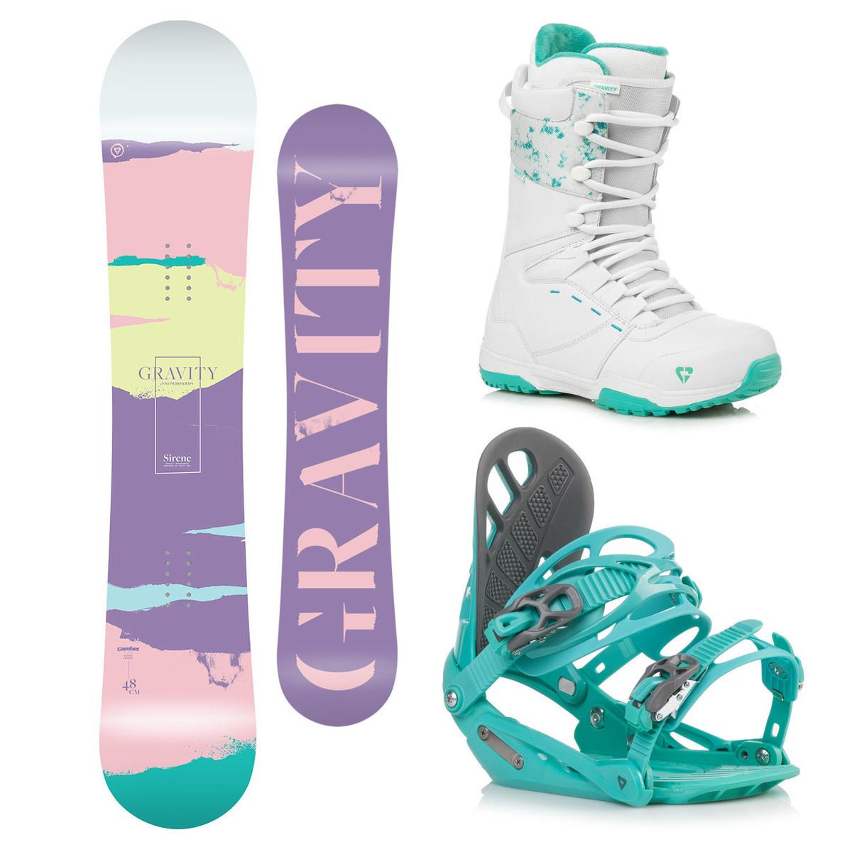 Snowboardový komplet Gravity Sirene 18/19 M (EU 37-42) 144 Zelená