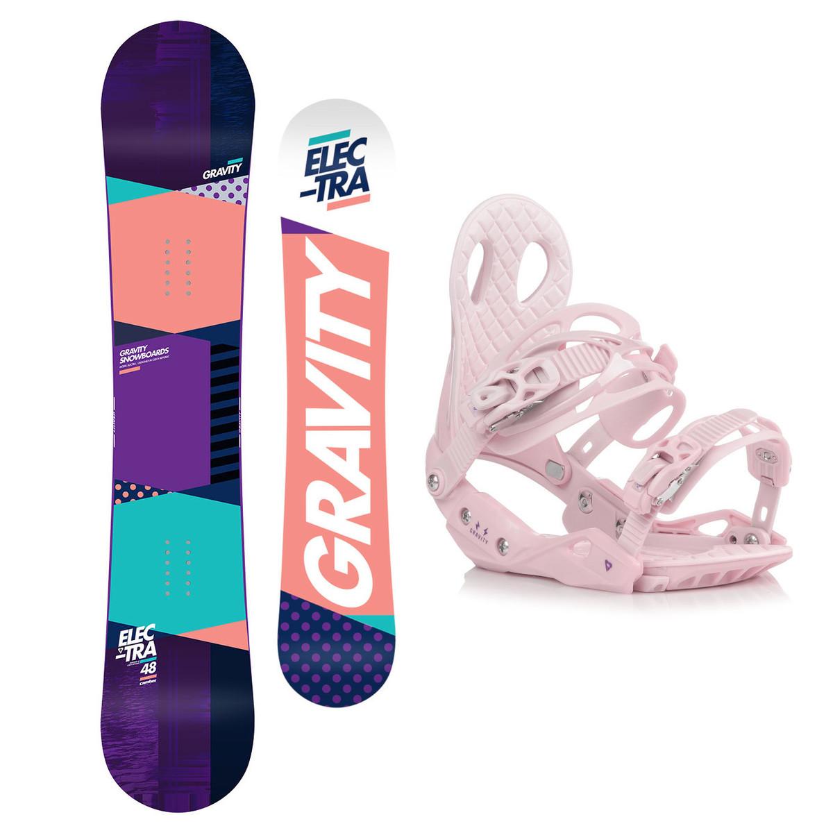 Snowboardový set Gravity Electra 18/19 M (EU 37-42) 148 Růžová