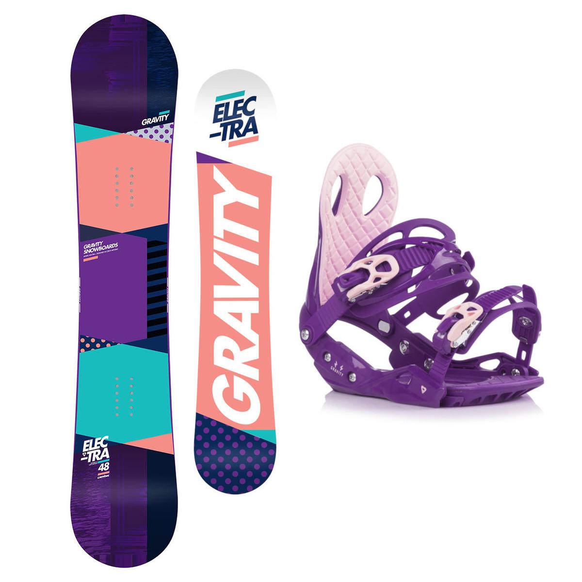 Snowboardový set Gravity Electra 18/19 M (EU 37-42) 151 Fialová