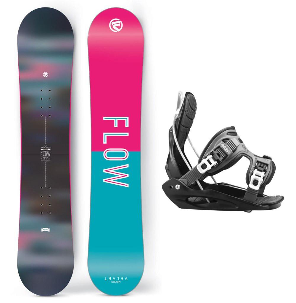 Snowboardový set Flow Micron Velvet 15/16 M (EU 35,5-40) 130