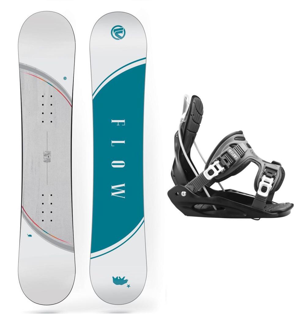 Snowboardový set Flow Micron Velvet 16/17 M (EU 35,5-40) 135