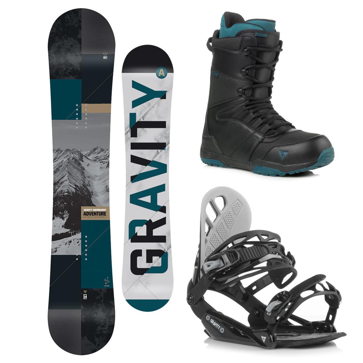 Snowboardový komplet Gravity Adventure 18/19 L (EU 42-48) 158W