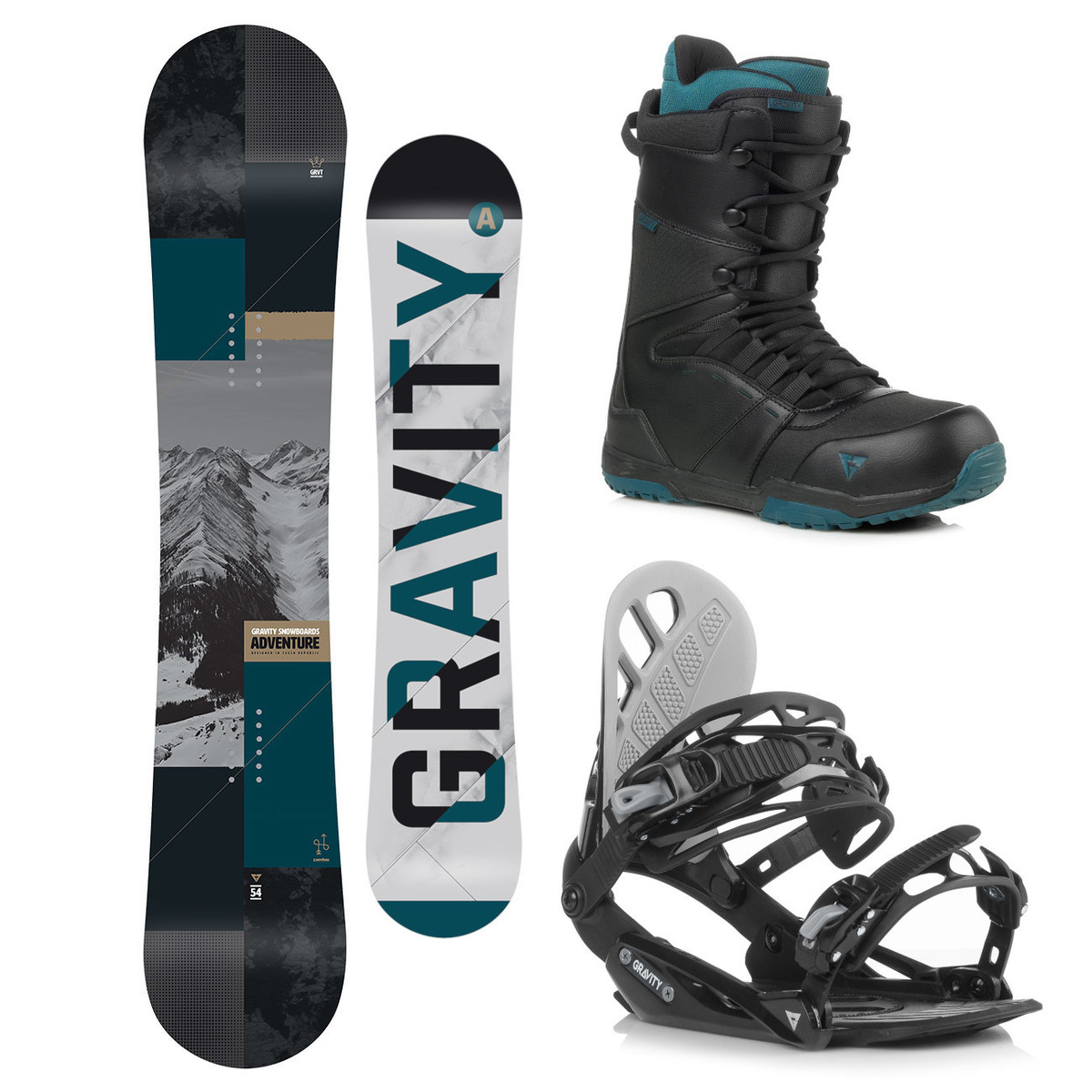 Snowboardový komplet Gravity Adventure 18/19 L (EU 42-48) 156