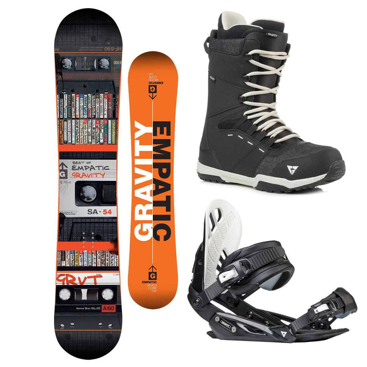 Snowboardový komplet Gravity Empatic 17/18 L (EU 42-48) 154