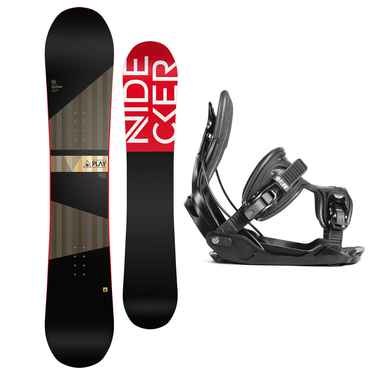 Snowboardový set Nidecker Play 17/18 XL (EU 44-49,5) 162XL