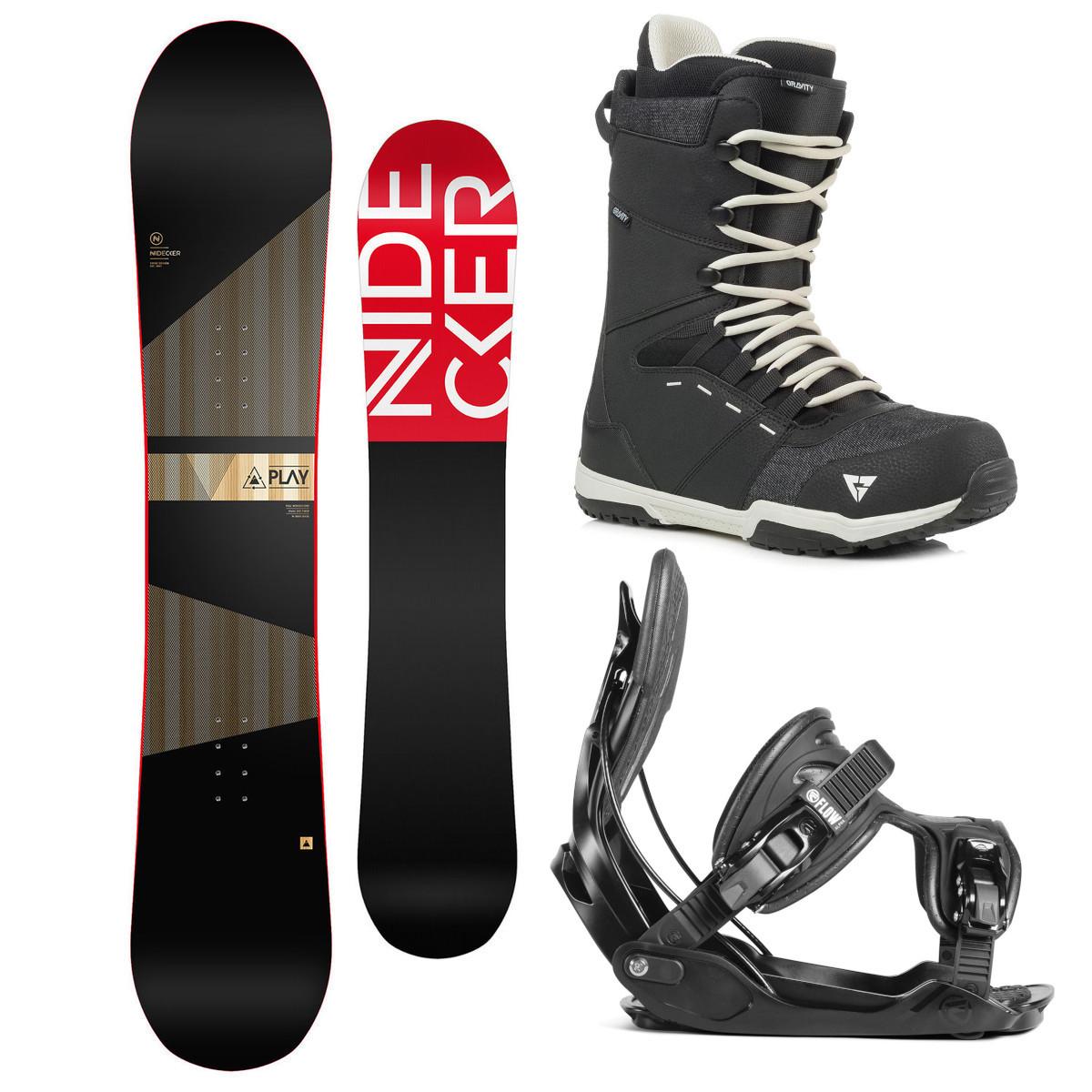 Snowboardový komplet Nidecker Play 17/18 XL (EU 44-49,5) 162XL