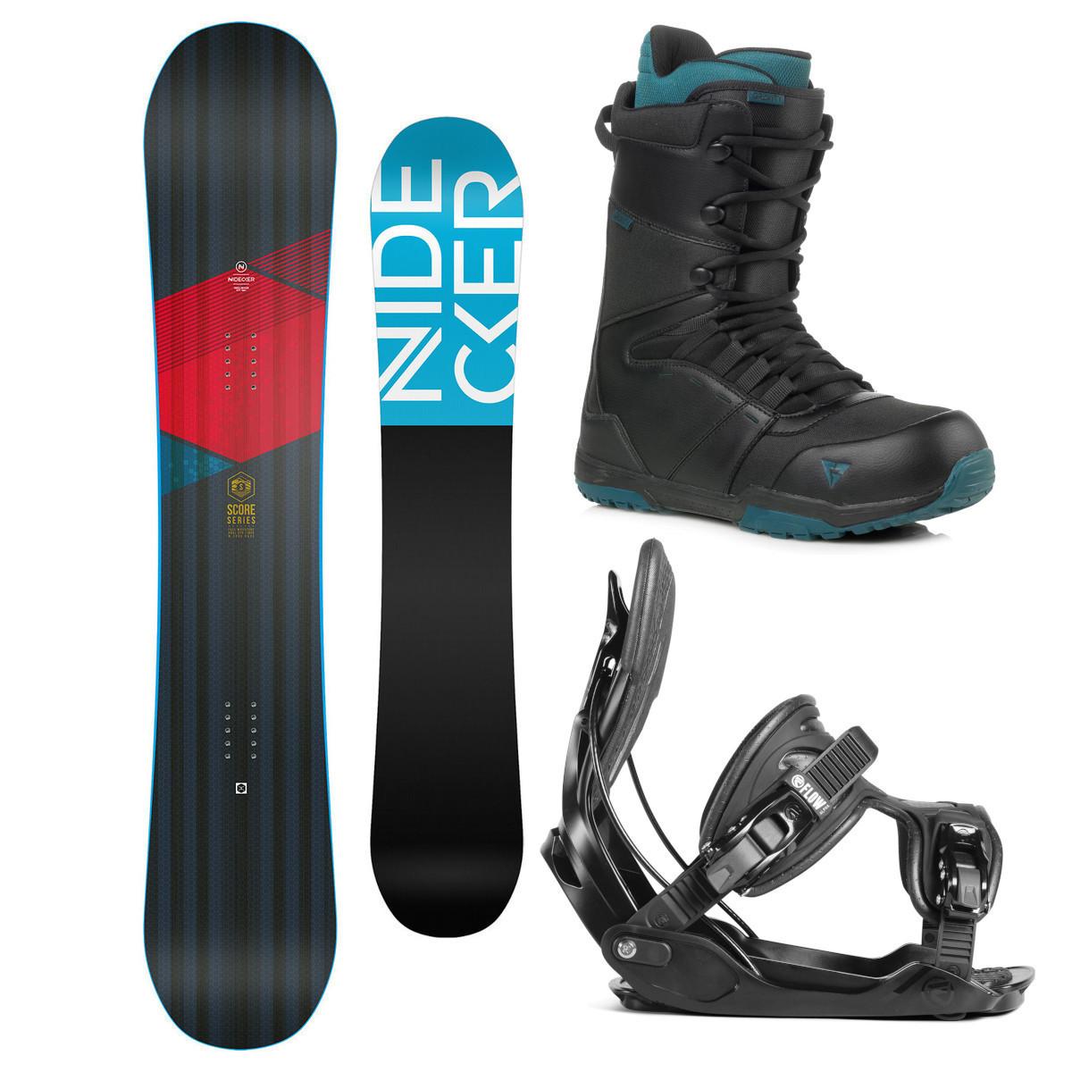 Snowboardový komplet Nidecker Score 17/18 XL (EU 44-49,5) 163XL