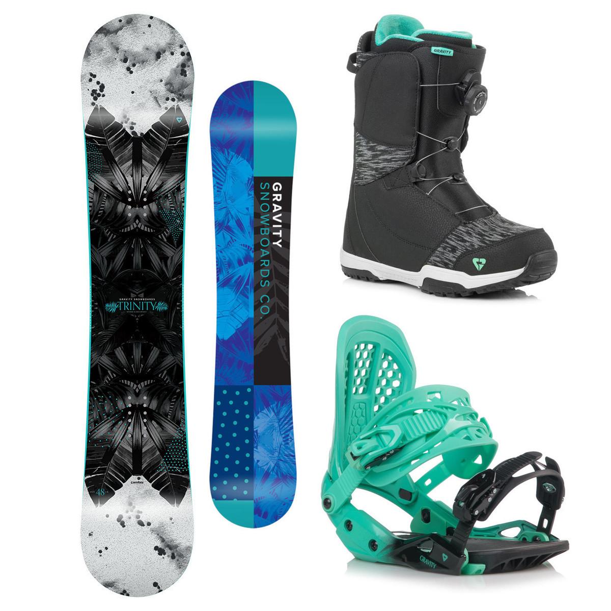 Snowboardový komplet Gravity Trinity 18/19 M (EU 37-42) 154