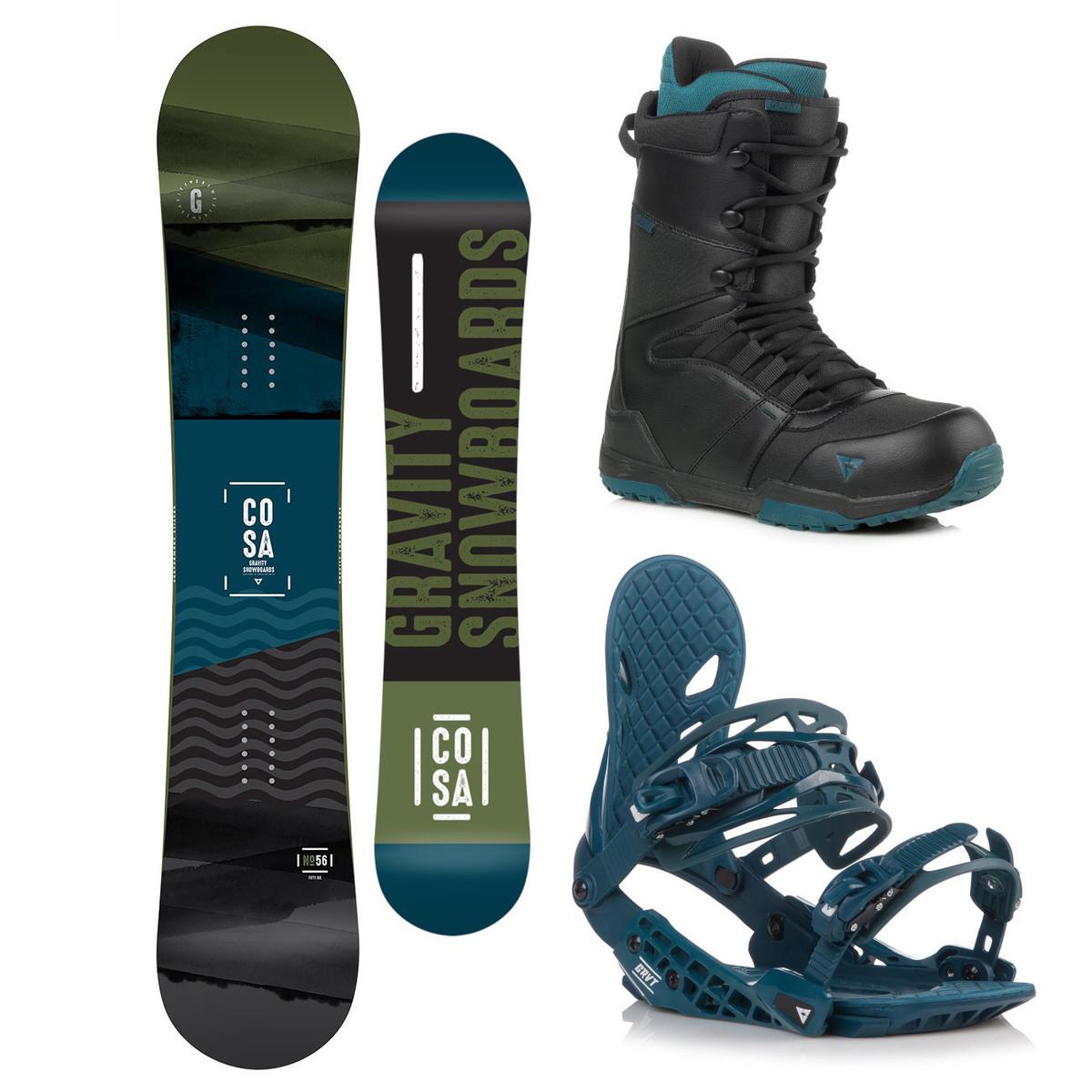 Snowboardový komplet Gravity Cosa 18/19 L (EU 42-48) 163W